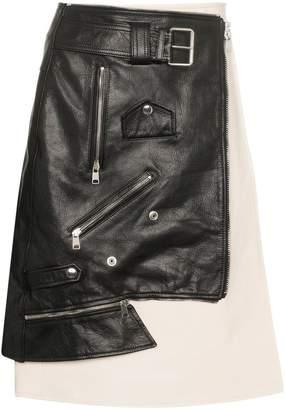 Alexander McQueen leather biker jacket skirt