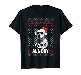 Sleigh all Day Argentine Dogo Dog Christmas T-Shirt