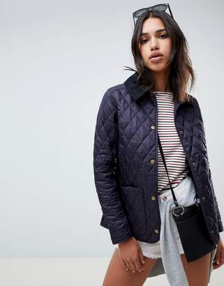 Barbour annandale quilted jacket with cord collar
