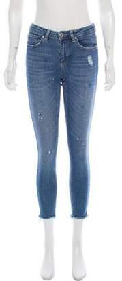 Zoe Karssen Mid-Rise Distressed Jeans