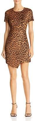 Aqua Leopard Print Faux Suede Dress - 100% Exclusive