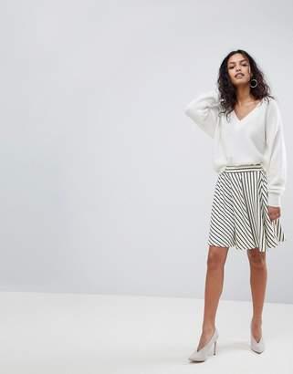Y.A.S Stripe Skater Skirt