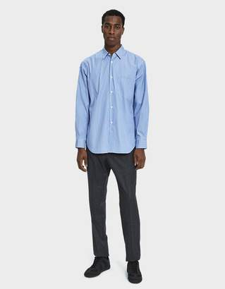 Comme des Garcons Forever Button Up Shirt in Thin Blue Stripe