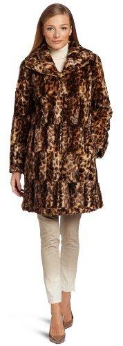 Jones New York Women's Long Faux Fur Jacket