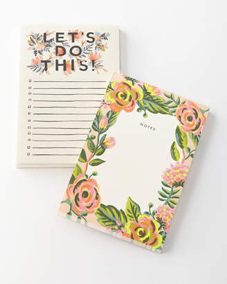 Rifle Paper Co. Lets Do This and Jardin Notepads, Set of 2
