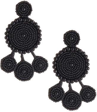 Nakamol Seed Bead Circular Dangle Earrings