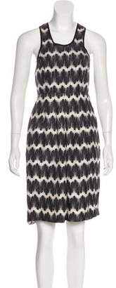 Thomas Wylde Printed Knee-Length Dress