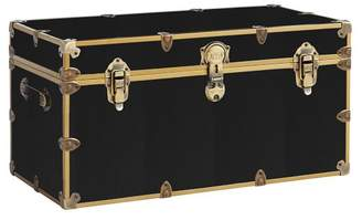 Pottery Barn Teen Vinyl Dorm Trunk, Black with Rubbed Brass, XXL