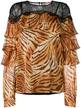 Twin-Set tiger print blouse