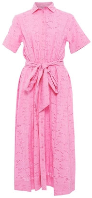 Lisa Marie Fernandez Pink Eyelet Shirt Dress $635 thestylecure.com