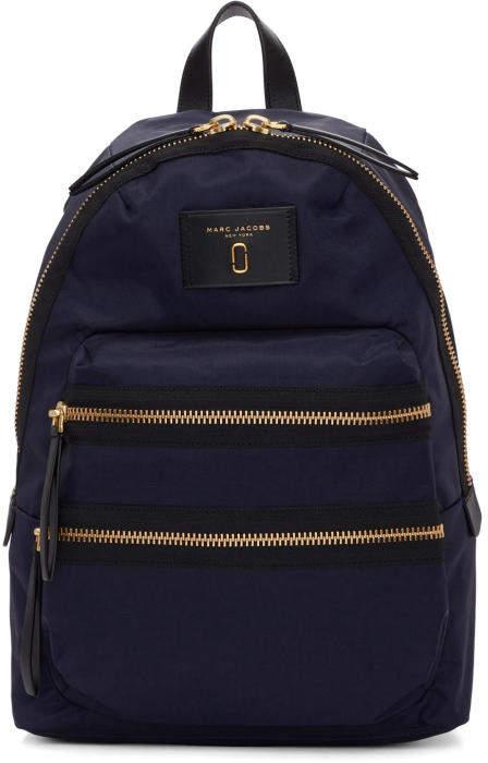 Marc Jacobs Navy Nylon Biker Backpack