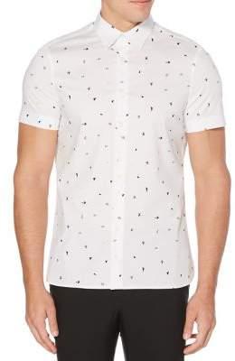 Perry Ellis Slim-Fit Mini-Confetti Print Shirt