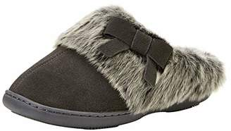 Isotoner Women's Real Suede Mule Slippers Open Back,38 EU