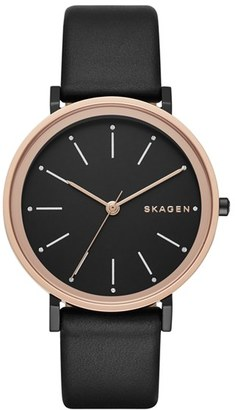 Skagen 'Hald' Leather Strap Watch, 34mm $155 thestylecure.com