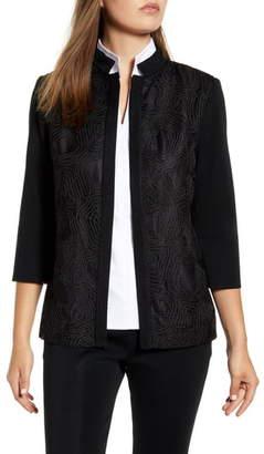 Ming Wang Swirl Embroidery Jacket
