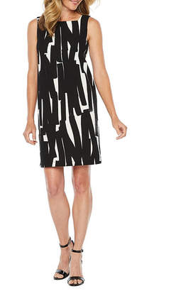LONDON STYLE Sleeveless Abstract Sheath Dress