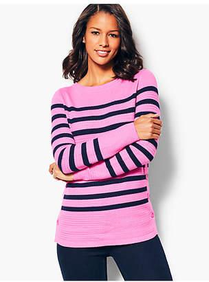 Talbots Textured Stripe Sweater