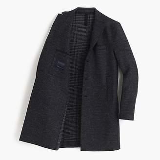 J.Crew Harris Wharf LondonTM boiled wool topcoat in tartan