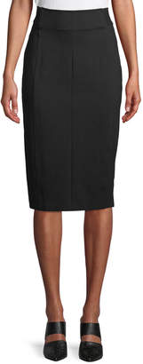 Genisis Zip-Front Knee-Length Pencil Skirt