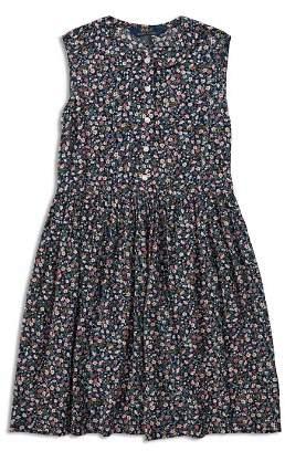 Ralph Lauren Girls' Sleeveless Floral Dress - Big Kid