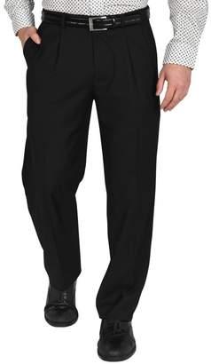 "Dockers Single Pleat Performance Stretch Straight Fit Dress Pants - 30-34\"" Inseam"