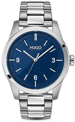 HUGO #CREATE Link Bracelet Blue Watch, 40mm