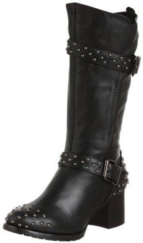 ALL BLACK Women's Rough & Ready Studded Biker Boot