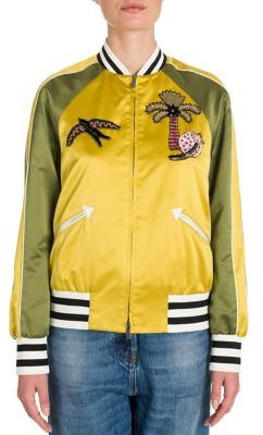 Valentino Garden Of Delight Bomber Jacket $4,980 thestylecure.com