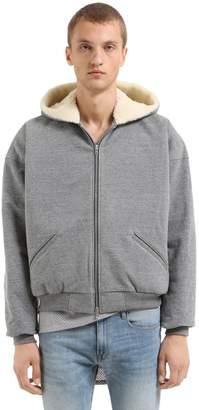 Fear Of God Hooded Zip-Up Sweatshirt W/ Wool Lining