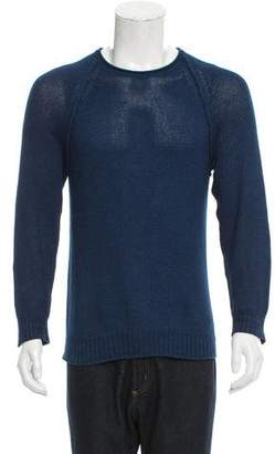 Club Monaco Crew Neck Rib Knit-Trimmed Sweater