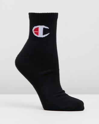Champion Logo Quarter Crew 3-Pack Socks