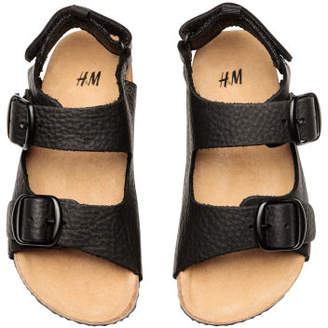 H&M Leather sandals - Black