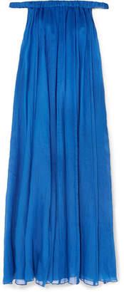 Three Graces London - Evangeline Off-the-shoulder Ramie Maxi Dress - Cobalt blue