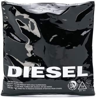 Diesel logo print tote bag