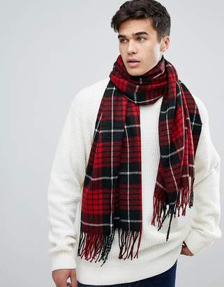 Jack and Jones Checked Scarf