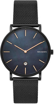 Skagen Hagen Slim Black Stainless Steel Mesh Bracelet Watch 40mm