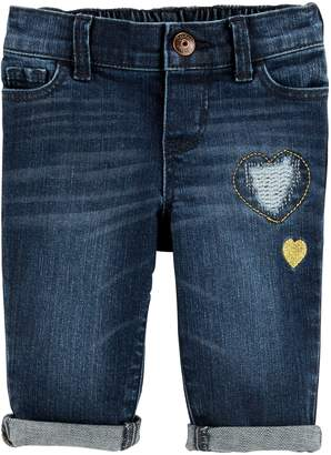 Osh Kosh Oshkosh Bgosh Baby Girl Embroidered Heart Jeans