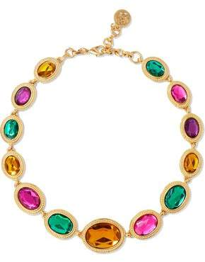 Ben-Amun Gold-Tone And Crystal Necklace
