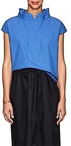 Atlantique Ascoli Women's Vareuse Cotton Poplin Blouse - Sky Blue
