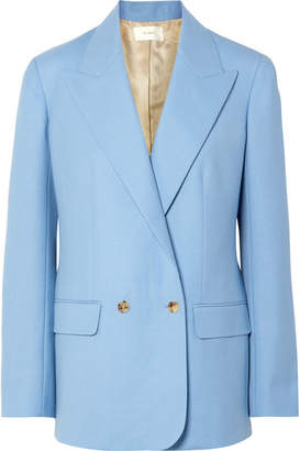 The Row Pesner Oversized Grain De Poudre Wool Blazer - Light blue