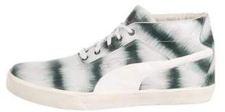Alexander McQueen x Puma Leather High-Top Sneakers
