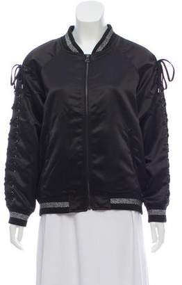 Jocelyn Lace-Up Bomber Jacket w/ Tags