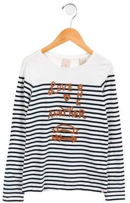 Scotch & Soda Girls' Long Sleeve Striped Top