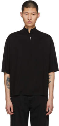 SASQUATCHfabrix. Black Vented Mock Neck T-Shirt