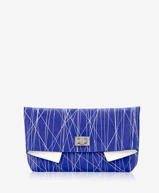 GiGi New York Claire Clutch Geometric Italian Calfskin Leather
