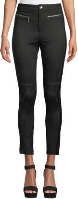 Free Generation Faux-Leather Stripe Leggings