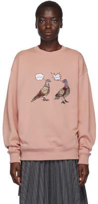 Acne Studios Pink Forba Pigeon Sweatshirt