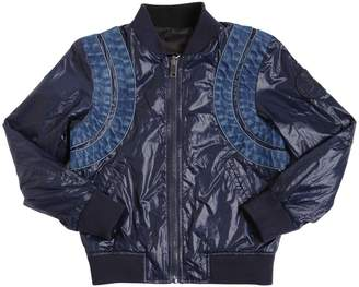 Diesel Reversible Nylon Bomber Jacket