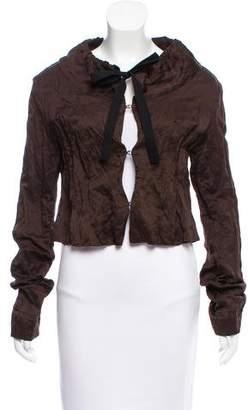Prada Textured Drawstring Jacket