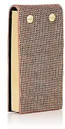 Barneys New York Small Leather-Bound Flip Pad - Gold